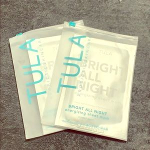 2 Tula Bright All Night Energizing Sheet Mask 2 pk